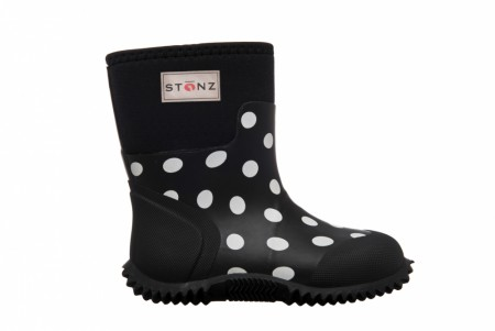 Stonz The West - Neoprenstøvler - Polka Dot - Black & White