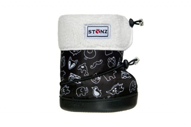 Stonz toddler booties - Stonz print - liners